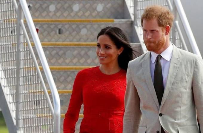 Nhà Sussex trong chuyến công du hồi tháng 10/2018, khi Meghan đang mang thai con đầu lòng. Ảnh: Reuters.