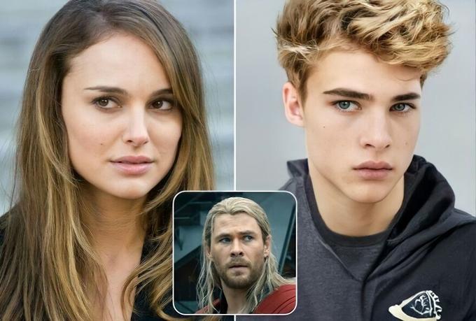 Con trai trên máy tính của Natalie Portman và Chris Hemsworth trong phim siêu anh hùng Thor.