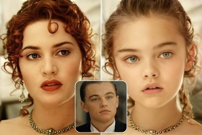 Con gái của chàng Jack Leonardo DiCaprio và nàng Rose Kate Winslet trong Titanic thừưởng thần thái của mẹ và gương mặt, đôi mắt của bố.