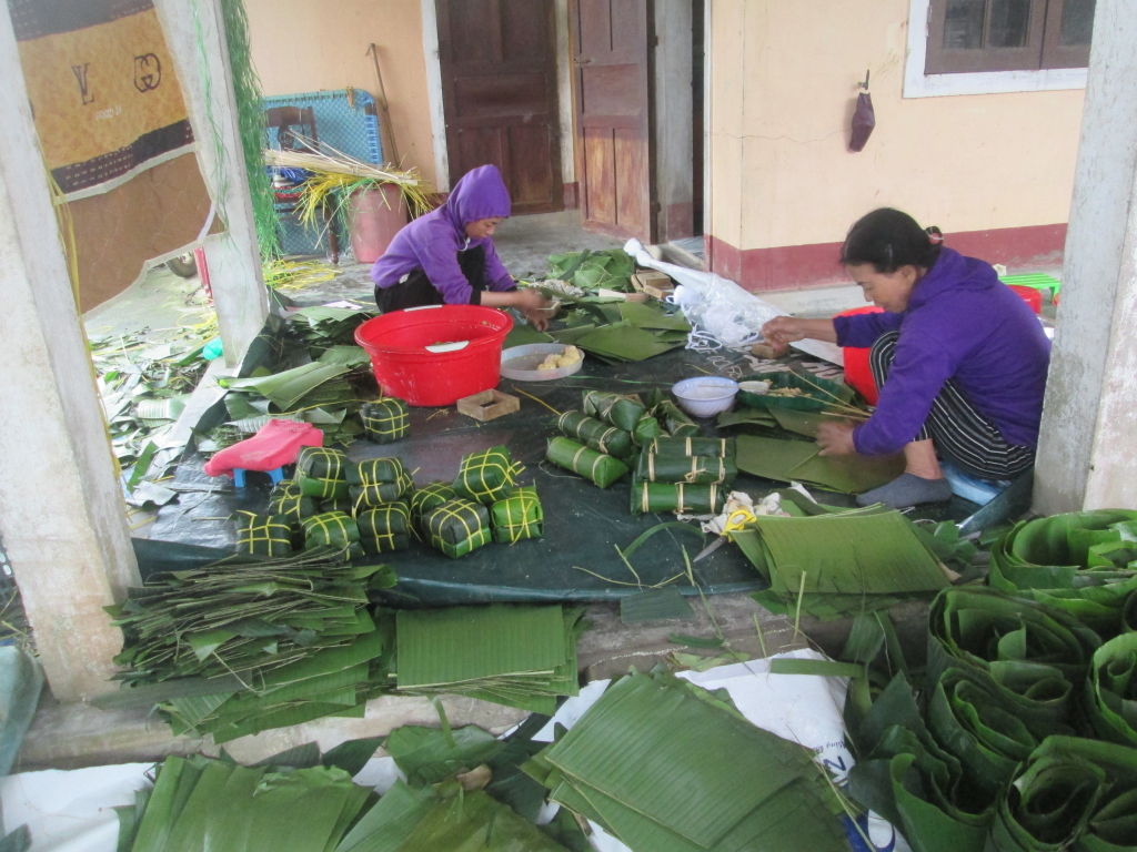 Hình ảnh đón Tết trong bài dư thi của độc giả Lê Thị Thu Thanh.