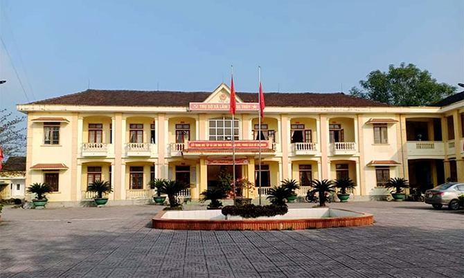 Trụ sở xã Lâm Trung Thủy, nơi ông Quốc công tác. Ảnh: Hùng Lê