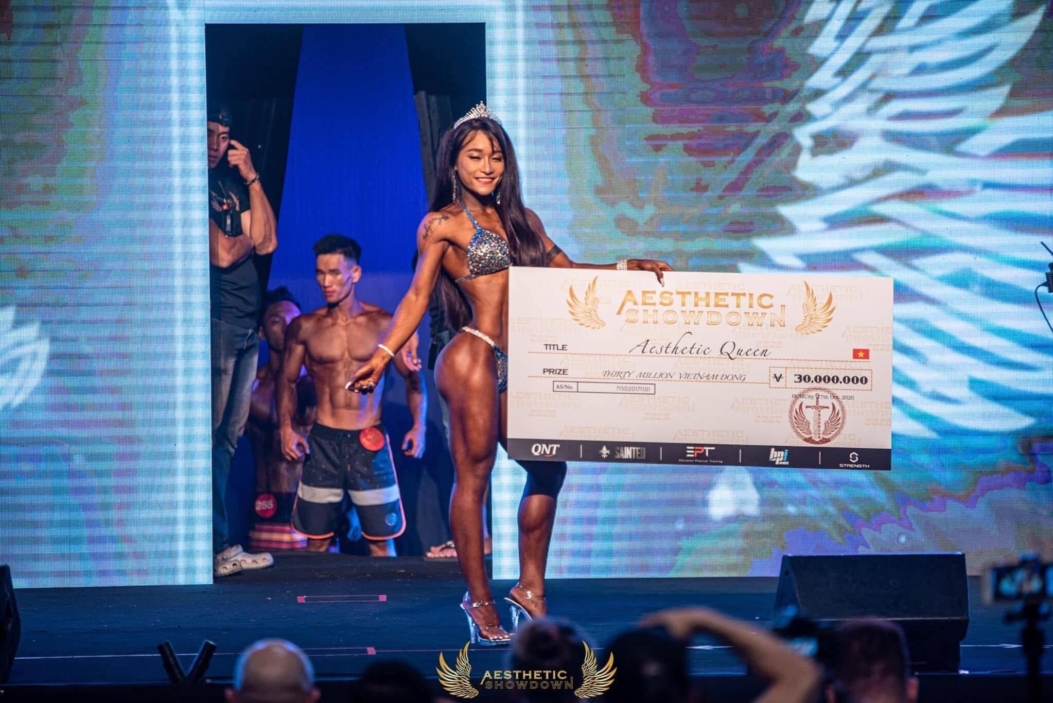 Trần Như Quỳnh đăng quang Aesthetic Queen 2020 - Nữ vương của Đại hội thể hình Aesthetic Showdown Vietnam 2020.