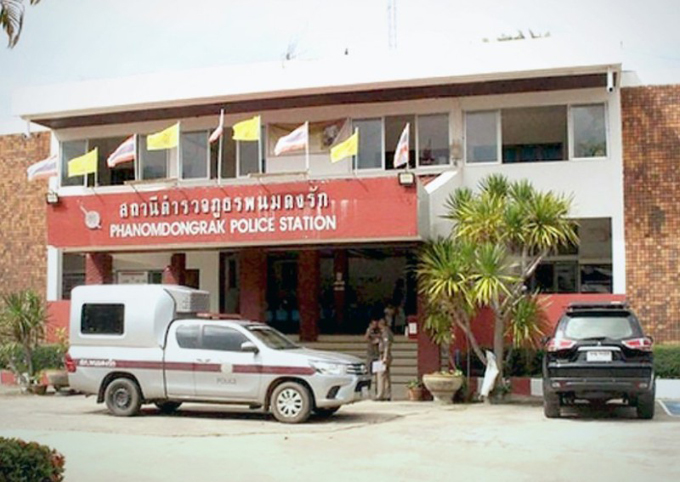 Đồn cảnh sát huyện Phanom Dongrak, tỉnh Surin, Thái Lan - nơi nhận trình báo vụ thầy giáo bị tố sàm sỡ 13 học sinh. Ảnh: The Nation.