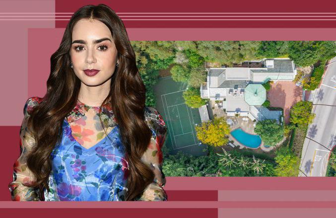 Lily Collins mua ngôi nhà năm 2016 khi đã là một diễn viên nổi tiếng ở Hollywood với các bộ phim như Mirror Mirror (2012), Stuck in Love (2012),  The Mortal Instruments: City of Bones (2013) hay Love, Rosie (2014). Nằm trong một khu phố yên tĩnh cách xa đường lớn, biệt thự trồng cây xung quanh đảm bảo sự riêng tư và không gian xanh tươi. Nơi đây gồm ngôi nhà lớn rộng gần 500 m2, bể bơi, bồn tắm nước nóng, sân tennis, sân gạch rộng rãi trước nhà.