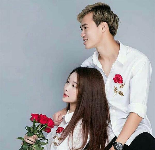 Một trong những hình ảnh hiếm hoi Văn Toàn và bạn gái chụp chung được tiết lộ. Ảnh: Instagram.