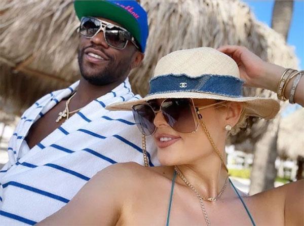 Mayweather và bạn gái tận hưởng kỳ nghỉ ở Aruba nhân dịp sinh nhật. Ảnh: Instagram.
