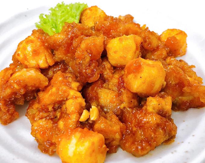 Gà và bánh gạo Hàn sốt gia vị - 2