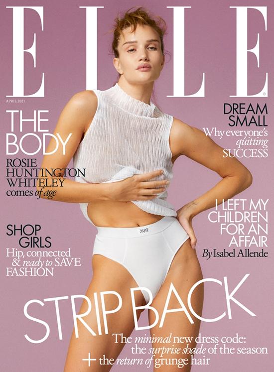 Bà mẹ một con trên bìa Elle Anh quốc, số tháng 4/2021.