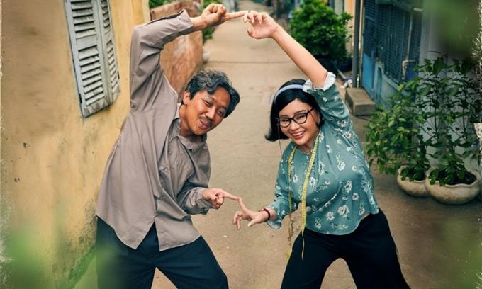 Trấn Thành và Lê Giang đóng cặp đôi trung niên trong phim Bố già.