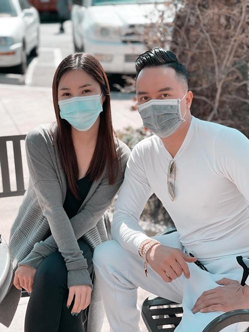 Cao Thái Sơn hội ngộ Hương Tràm ở Mỹ.