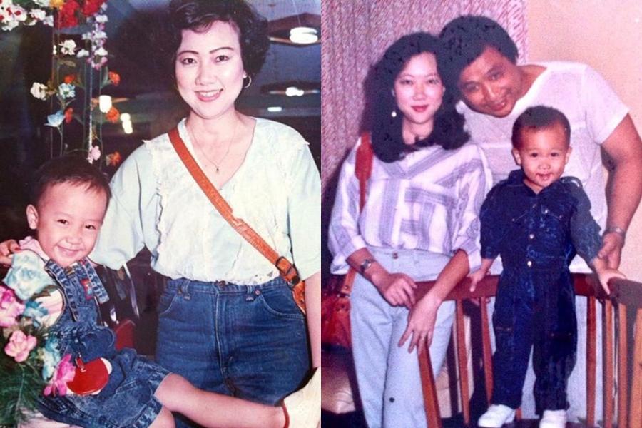 Bố mẹ MC Trấn Thành ăn mặc sành điệu cuối những năm thập niên 1980.