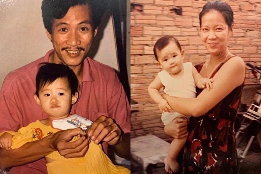 Là con gái út trong nhà, hoa hậu Khánh Vân được bố mẹ hết sức cưng chiều.