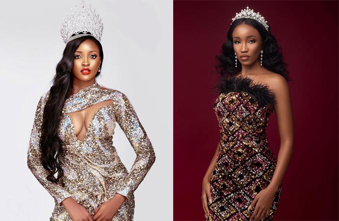 Miss Grand Nigeria (trái) và Miss Grand Kenya.
