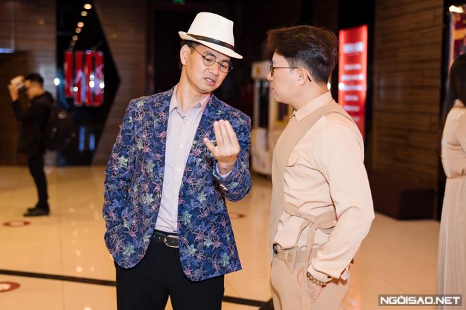 Xuân Bắc hội ngộ MC Lê Anh tại sự kiện.