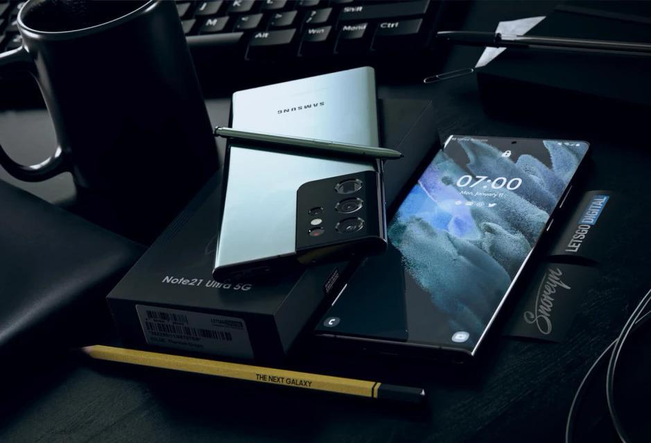 Những hình ảnh render của mẫu Galaxy Note21 Ultra. Ảnh: Phone Arena