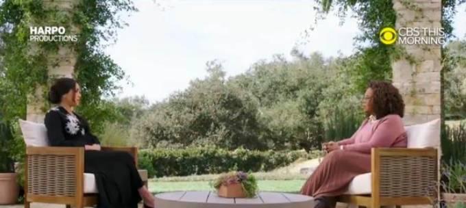 Cuộc phỏng vấn kéo dai 2 tiếng sẽ lên sóng truyền hình Mỹ vào ngày 7/3. Ảnh: CBS.