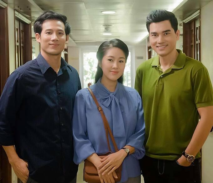 Lê Phương bên diễn viên Thanh Thức và Thành Được khi cùng góp mặt trong phim mới.