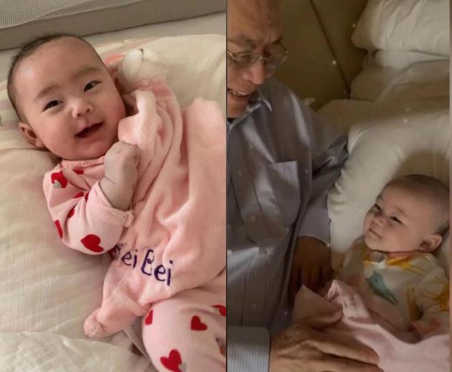 Ông Lưu Thi Côn và con gái.