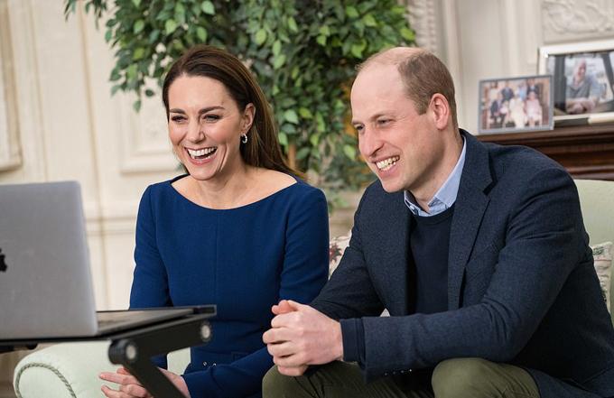 Kate và William có bài phát biểu trong Ngày lễ của khối Thịnh vượng chung, vài tiếng trước khi buổi phỏng vấn của Meghan được phát sóng. Ảnh: PA.