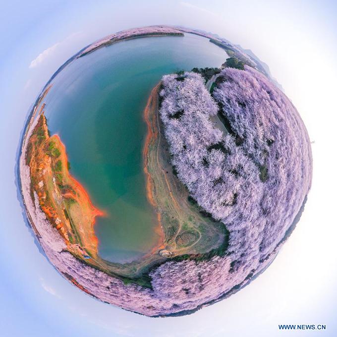 Hòn đảo thần tiên qua ảnh chụp ống kính mắt cá.