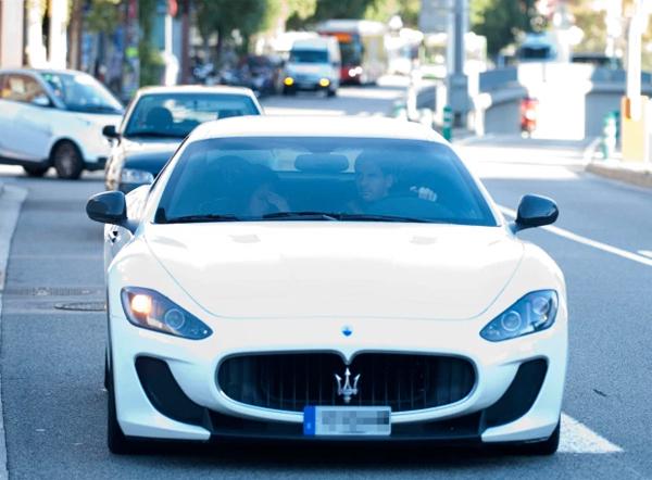 Messi chuộng các dòng xe của Maserati. Ảnh: The Sun.