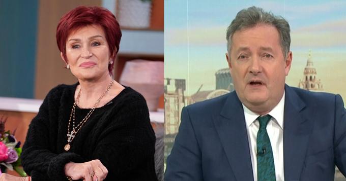 Sharon Osbourne (trái) bênh vực đồng nghiệp kiêm bạn thân lâu năm Piers Morgan.