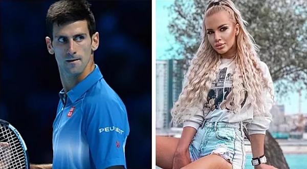 Người mẫu Natalija Sceki được thuê để quyến rũ Djokovic nhằm hủy hoại danh tiếng của anh. Ảnh: Marca.