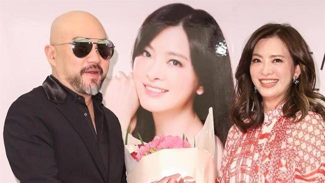 Ca sĩ Tân Long và người vợ đã quá cố Lưu Chân.