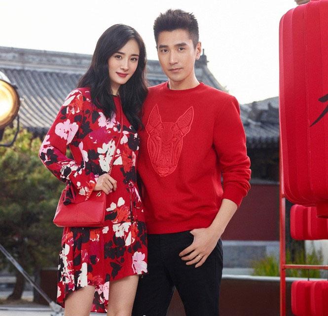 Hai diễn viên Dương Mịch và Triệu Hựu Đình làm mẫu cho thương hiệu HM.