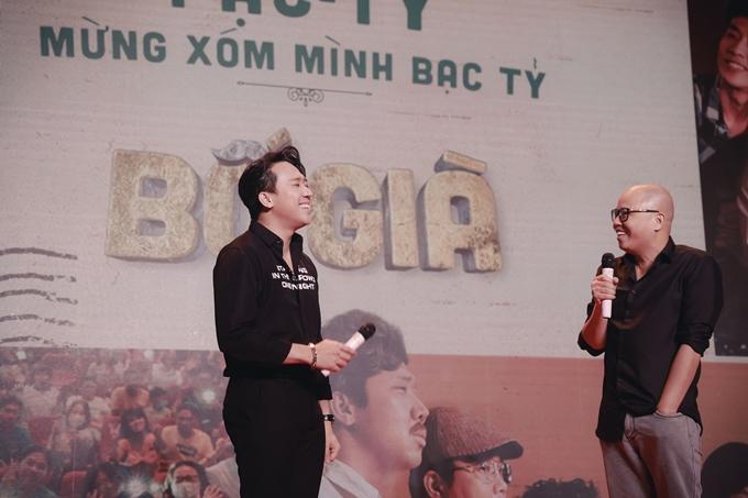 Trấn Thành và đạo diễn Vũ Ngọc Đãng cho hay doanh thu 300 tỷ đồng là thành tích không ngờ tới của cả hai. Họ cảm ơn nhau đã hỗ trợ, đồng hành trong dự án.