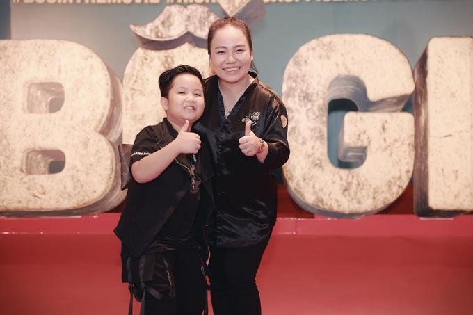 Diễn viên Lê Trang và sao nhí Bảo Phúc.