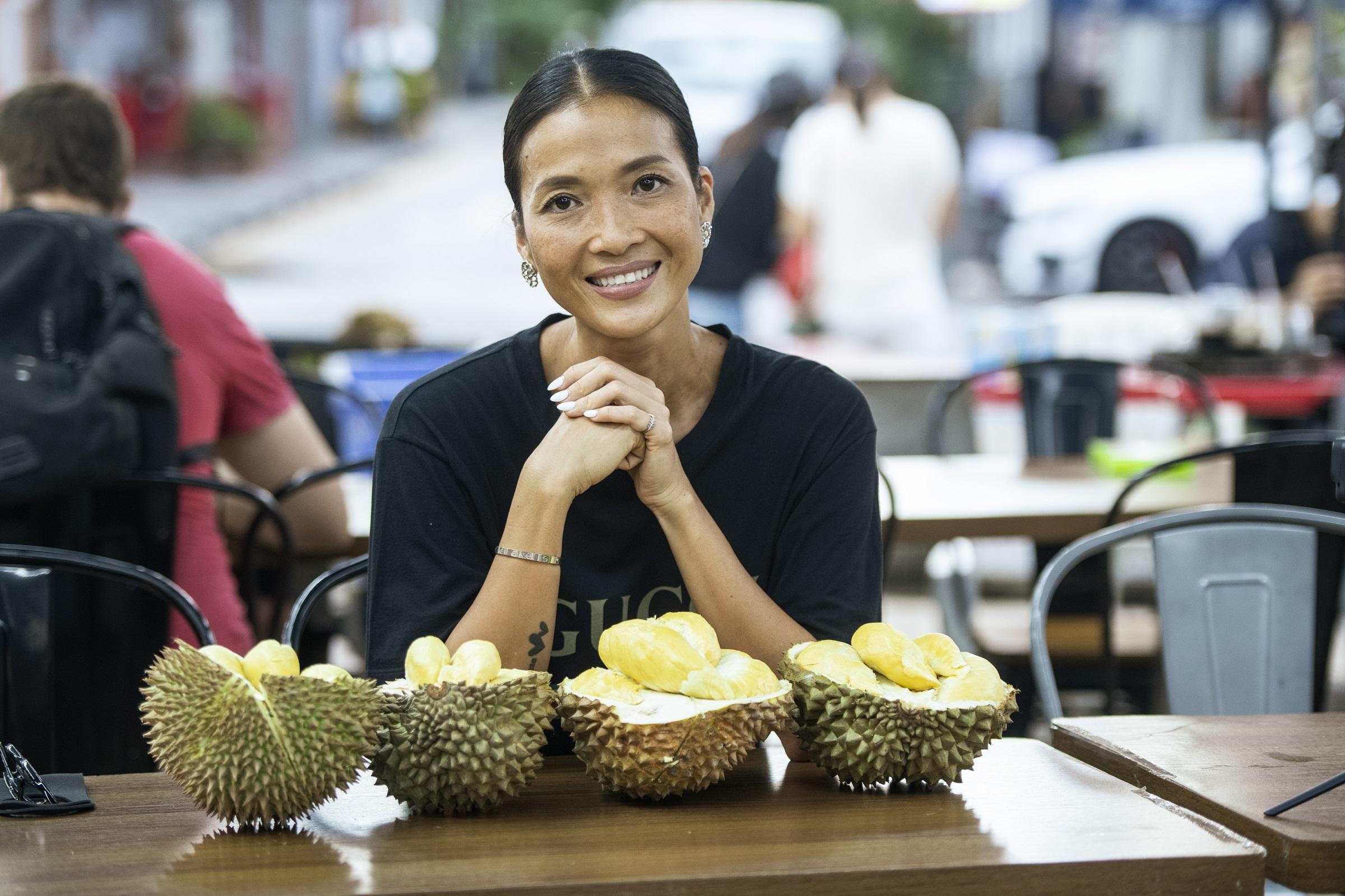 Sầu riêng ở Wonderful Durian đa dạng chủng loại với nhiều hương vị, độ béo khác nhau. Ảnh: Tổng cục Du lịch Singapore.