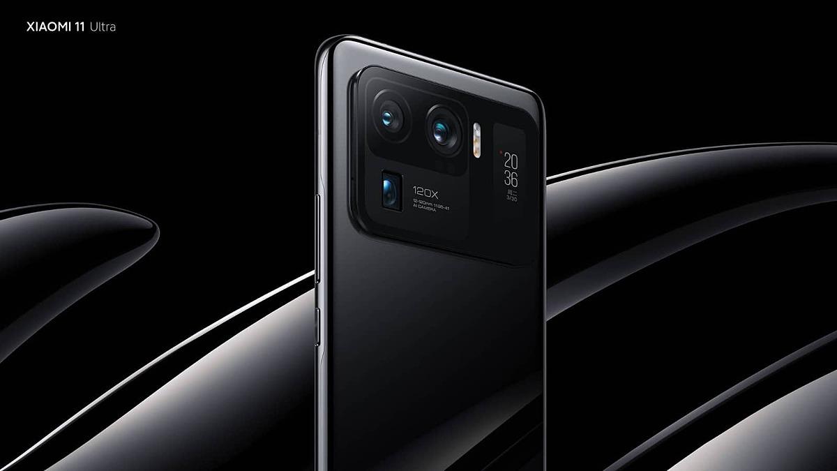 Cụm camera của Mi 11 Ultra.