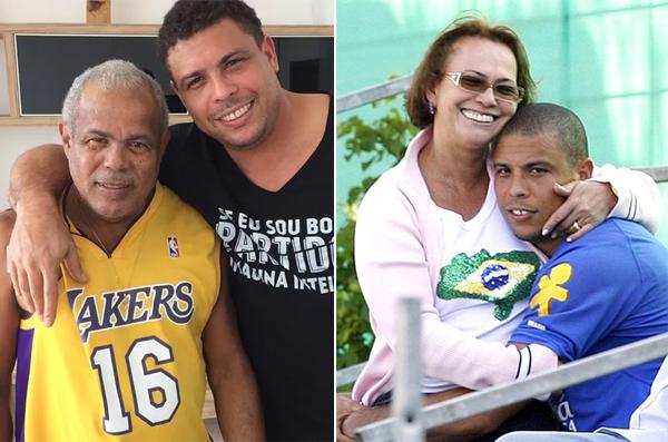 Cựu danh thủ Ronaldo bên bố mẹ. Ảnh: Instagram.