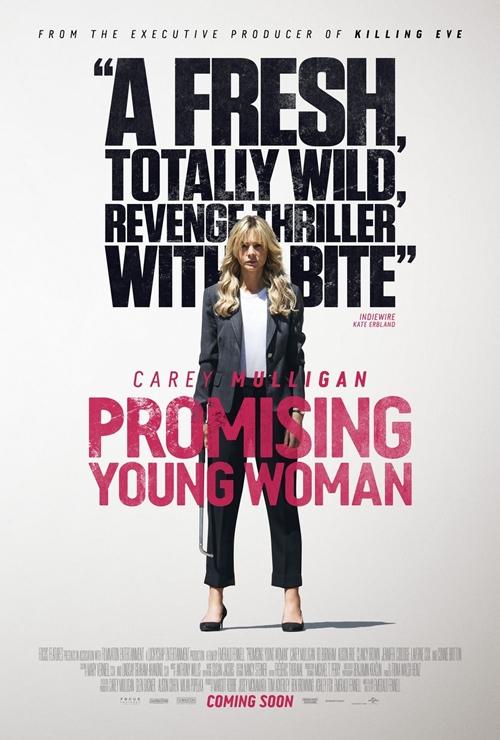 Trong Promising Young Woman (Cô gái trẻ hứa hẹn), Carey Mulligan vào vai chính Cassie, bông hồng gai khiến đàn ông bị quyến rũ nhưng cũng khiếp sợ. Đều đặn mỗi cuối tuần, Cassie tới quán bar, giả bộ say xỉn để gây chú ý với một người đàn ông và bắt họ trả giá đắt. Bộ phim tranh giải Phim hay nhất tại Oscar sẽ ra rạp Việt Nam từ 2/4.