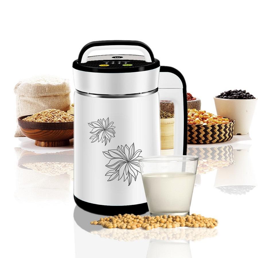 Máy làm sữa đậu nành Mishio MK-140 làm bằng chất liệu thép không gỉ bên trong và nhựa chịu nhiệt bên ngoài. Máy có thể tự động làm sữa hoặc nấu các món soup, cháo... Dung tích 1,4 lít phù hợp cho gia đình 4-5 người. Máy được lắp đặt với bộ cảm ứng cùng nhiều tính năng. Bộ cảm ứng mức nước giúp có tỷ lệ nước phù hợp đồng thời chống tràn, giảm áp lực và ngăn nước vào động cơ máy, đảm bảo vệ sinh. Sản phẩm có giá 890.000 đồng, giảm 31% so với giá gốc.