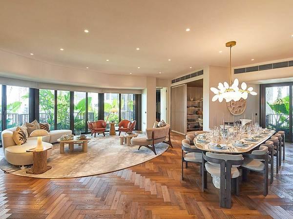 Phòng khách của một căn hộ trong dự án Eden. Ảnh: Swire Properties.