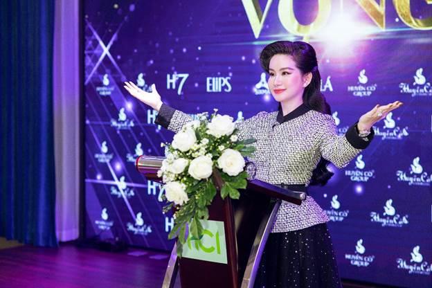 Bà Võ Thị Ngọc Huyền – Chủ tịch HCI Holding phát biểu tại sự kiện.