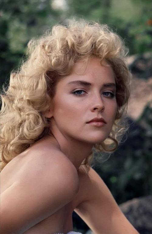 Sharon Stone thời trẻ.