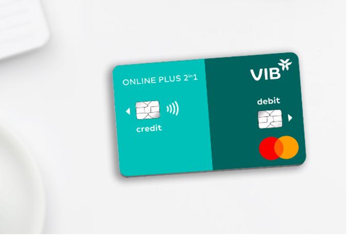 Thẻ VIB Online Plus 2in1 là dòng thẻ đầu tiên tại Đông Nam Á tích hợp thẻ tín dụng và thẻ thanh toán. Ảnh: VIB.