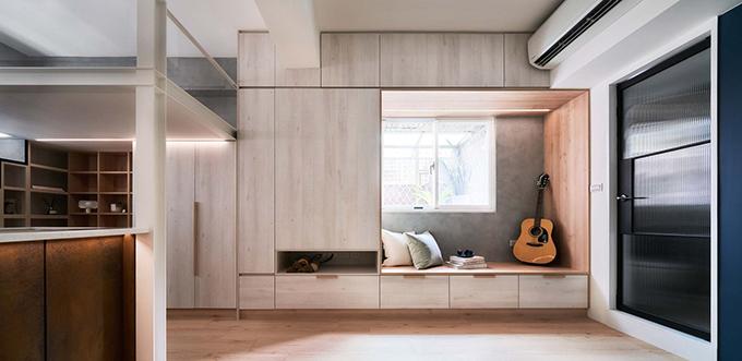 Concept của căn hộ là Miao Miao, tức là càng đi sâu vào trong, bạn càng được rời xa nhịp sống hối hả, bận rộn bên ngoài cánh cửa.