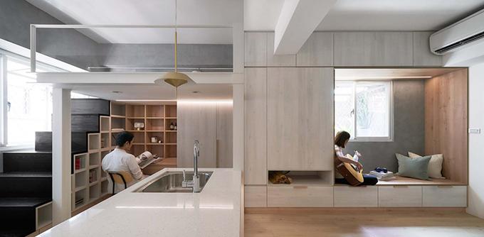 Căn hộ ở Đài Bắc, Đài Loan có diện tích nhỏ, chỉ 23 m2, được cải tạo bởi NestSpace Design năm 2020.
