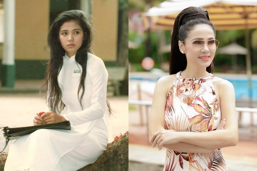 Ngay từ thời niên thiếu, Việt Trinh thu hút ánh nhìn với gương mặt đẹp, sóng mũi cao và đôi mắt to tròn. Tuy nhiên, nhược điểm của cô khi ấy là làn da đen nhẻm, đến mức nhiều người lầm tưởng chị là người dân tộc thiểu số.