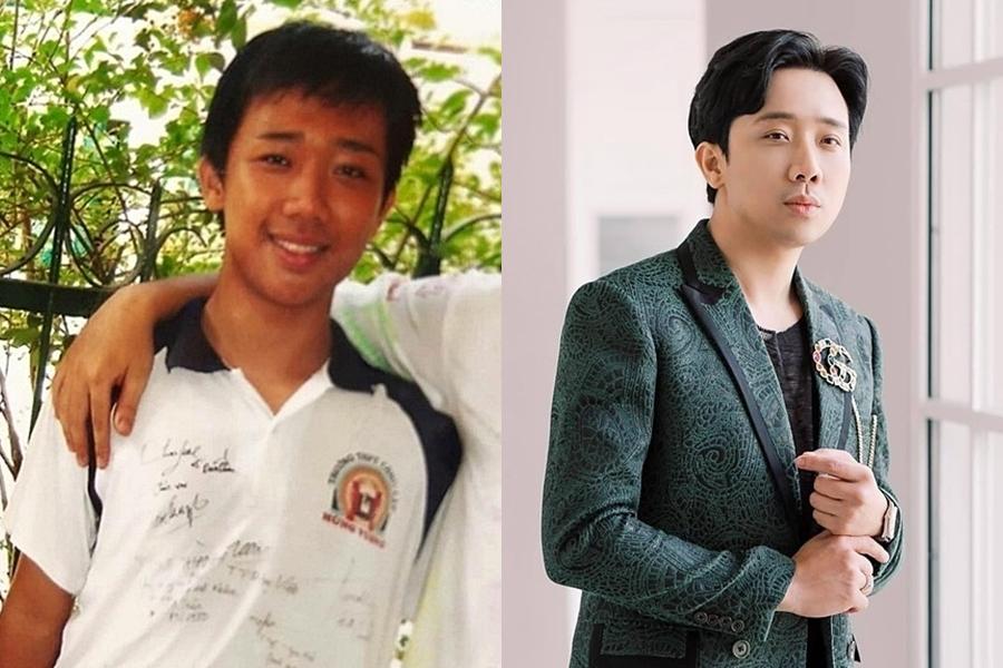 Giống nhiều cậu thanh niên khác, MC Trấn Thành khá ốm, làn da xỉn màu. Ngoại hình của anh hiện lột xác hoàn toàn.