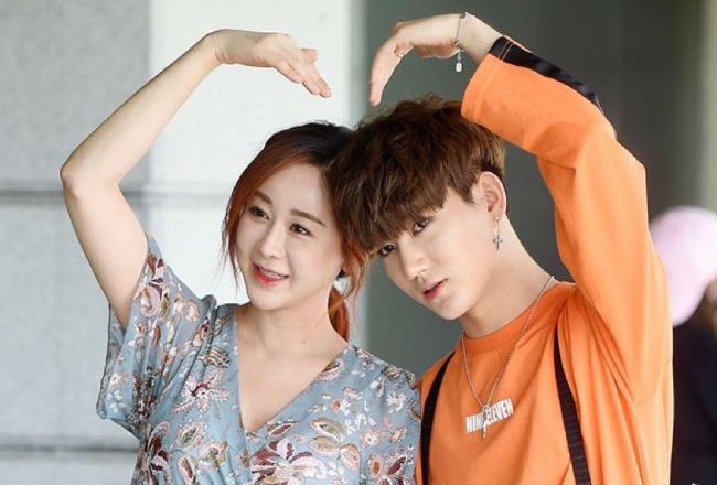 Diễn viên Ham So Won và chồng trẻ Jin Hua.
