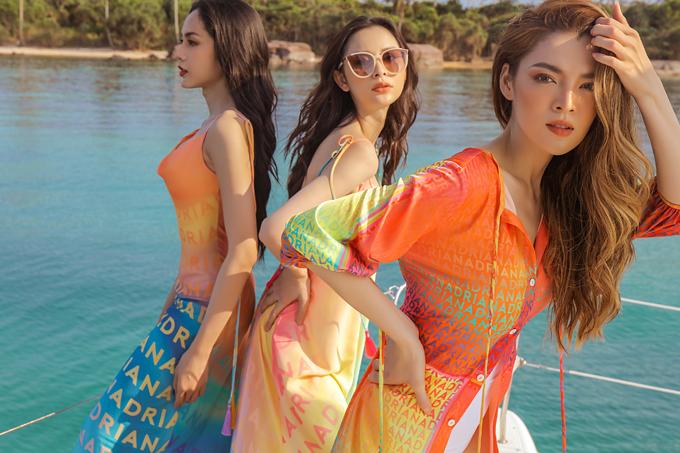 Trân Đài diện trang phục đi biển