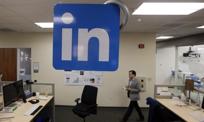 Bên trong trụ sở chính của LinkedIn tại California, Mỹ. Ảnh: AP.