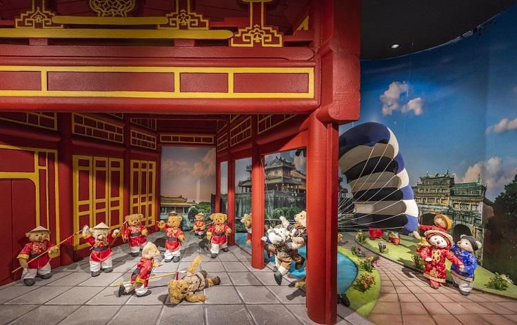 Kinh thành Huế được tái hiện tại Bảo tàng Gấu.
