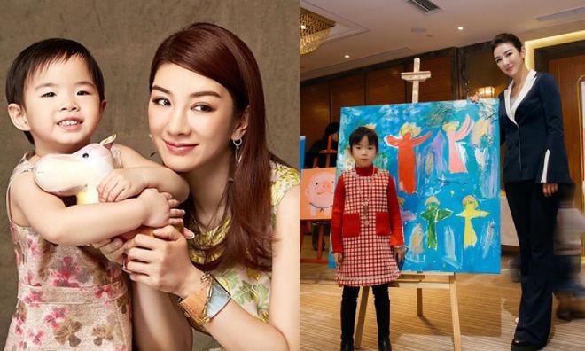 Huỳnh Dịch và cô con gái chung với Hoàng Nghị Thanh.