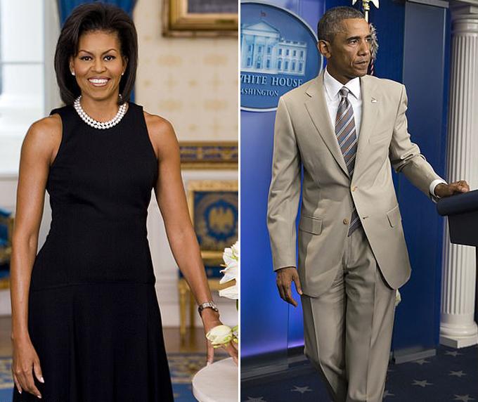 Vợ chồng cựu tổng thống Obama từng bị chỉ trích vì trang phục không phù hợp với sự kiện. Ảnh: AFP, AP.